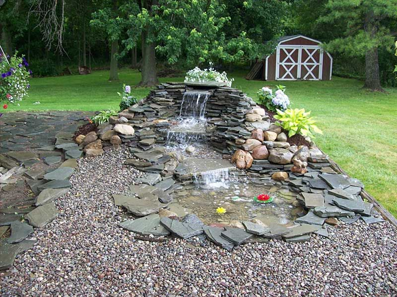 Small pond waterfall ideas landscaping ponds for Small pond water feature