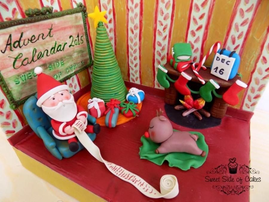 Santa - Advent Calendar 2015 by Sweet Side of Cakes