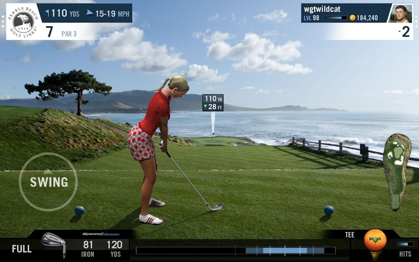 World Golf Tour is the most realistic free online golf