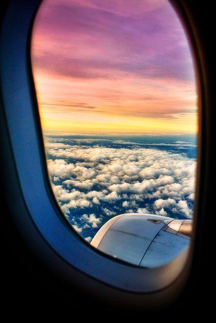 Frankfurt to Budapest Photography Airplane window