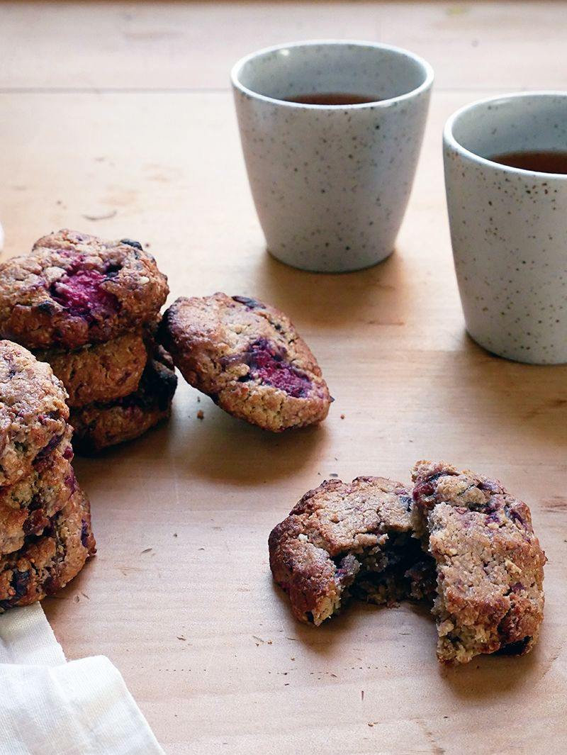 Raspberry Apricot Rooibos Cashew Butter Cookies Recipe