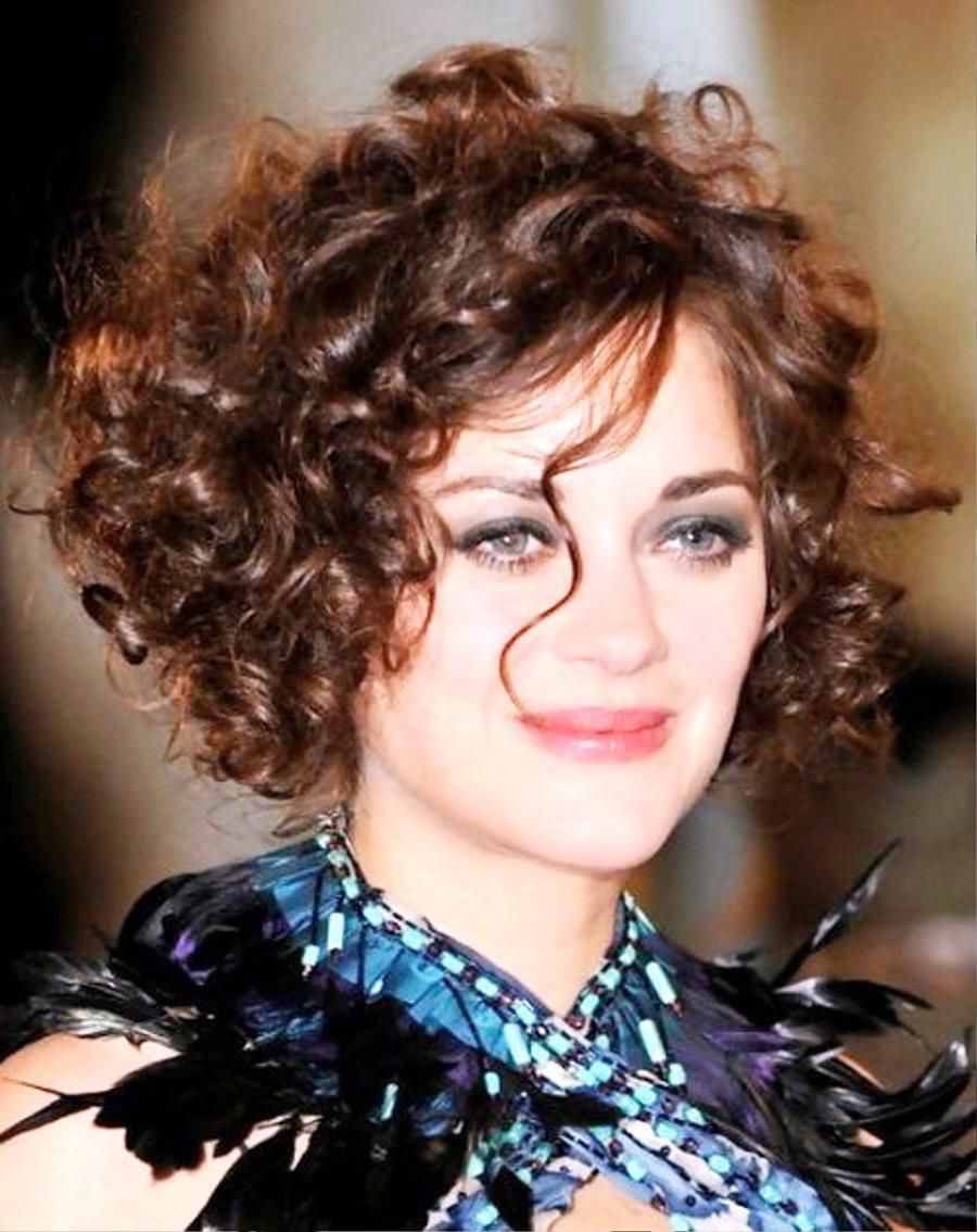 Short Curly Bob Hairstyles For Round Face The Short Curly
