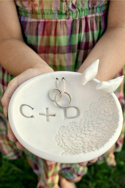 Diy Ring Bowl Made From Oven Bake Clay Diy Wedding Ring Diy