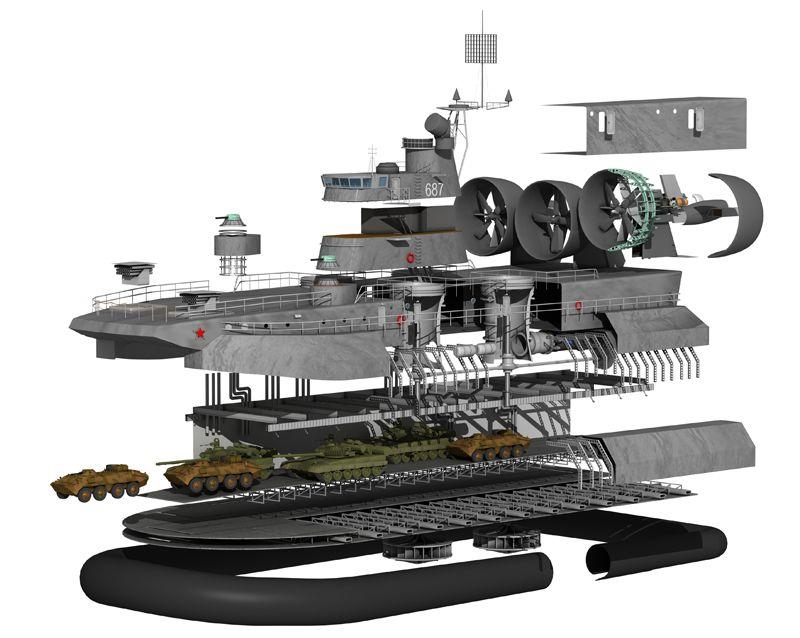 Soviet attack hovercraft
