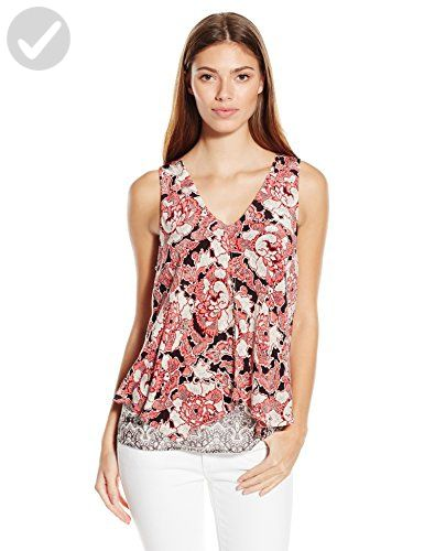af6afebbecb Lucky Brand Women's Floral Mixed Print Tank Top, Multi, X-Large - All about  women (*Amazon Partner-Link)
