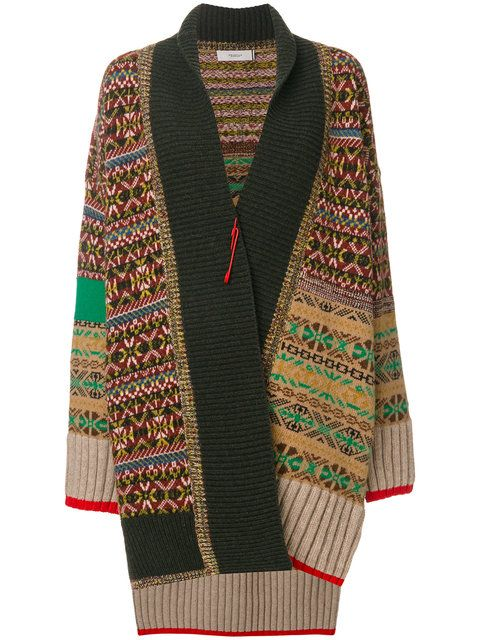 Shop Pringle Of Scotland Fairisle knit coatigan. | My style ...