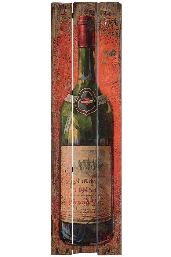 Wine Bottle Wall Decor wine bottle wall plaque - unframed art - wall decor - home decor