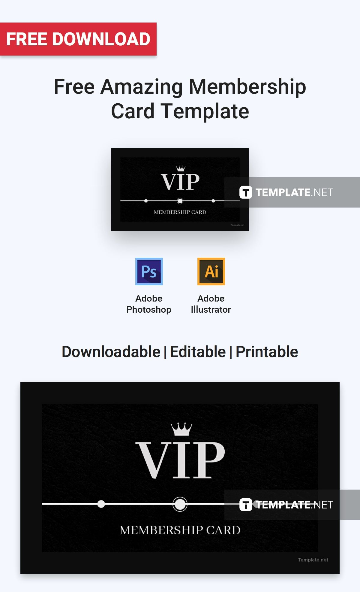 Free Amazing Membership Card Template Word Doc Psd Apple Mac Pages Illustrator Publisher Membership Card Card Templates Credit Card Statement