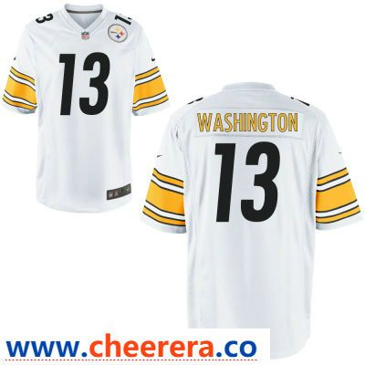 Men s Pittsburgh Steelers  13 James Washington White Road Stitched NFL Nike  Game Jersey 22b2d4fa4