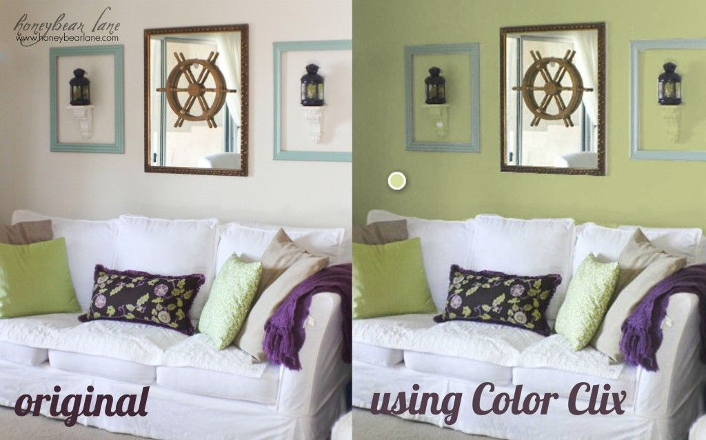 Virtually paint your house using color clix.