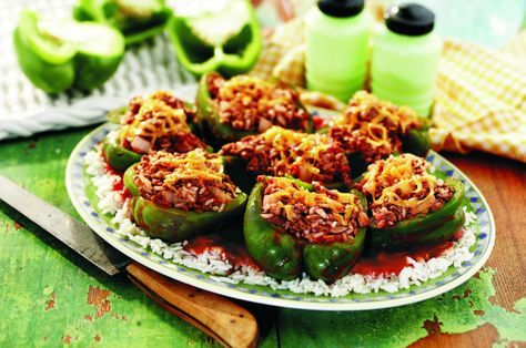 recipe: stove top stuffed peppers in tomato sauce [2]