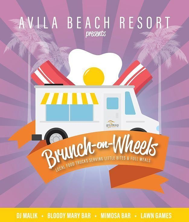 Brunch on Wheels is BACK on May 21st at the Avila Beach Golf Resort!  We have the best of the county's local food trucks serving up specialized Brunch menus with the beach at your toes!  Featuring lawn games Music by DJ Malik and the ever popular Mimosa and Bloody Bars! Admission is still FREE! #AvilaBeach