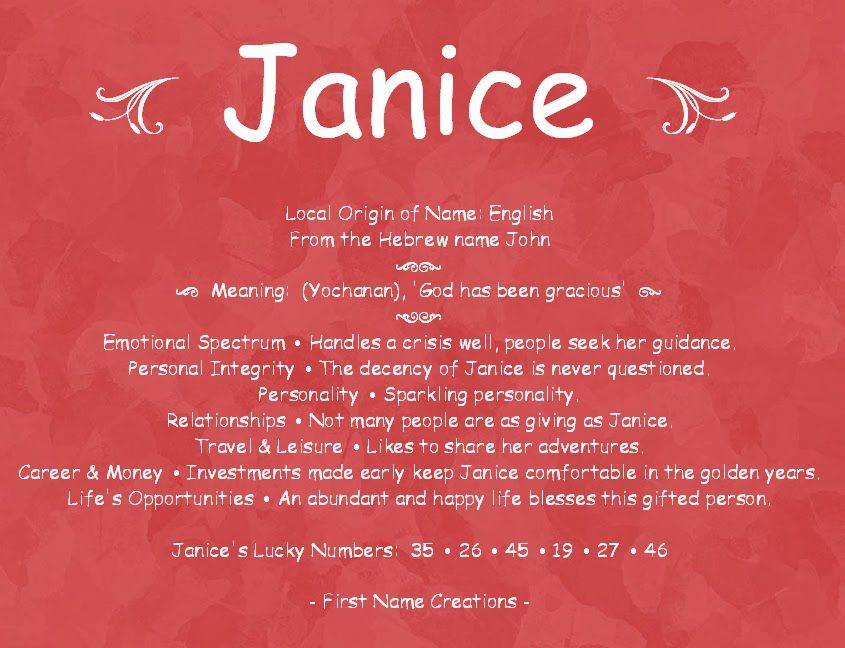 Janice Name Meaning. Love this. How true this is | Mama ...