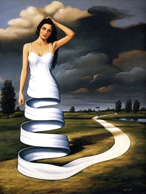 Creando mi propio camino - Surreal Artwork by Rafal Olbinski - My Modern Metropolis