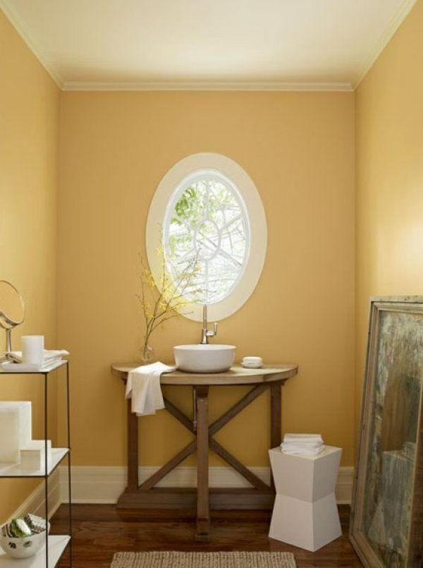 Wandfarbe Gelb Eine Sonnige Stimmung Im Badezimmer Haben For The