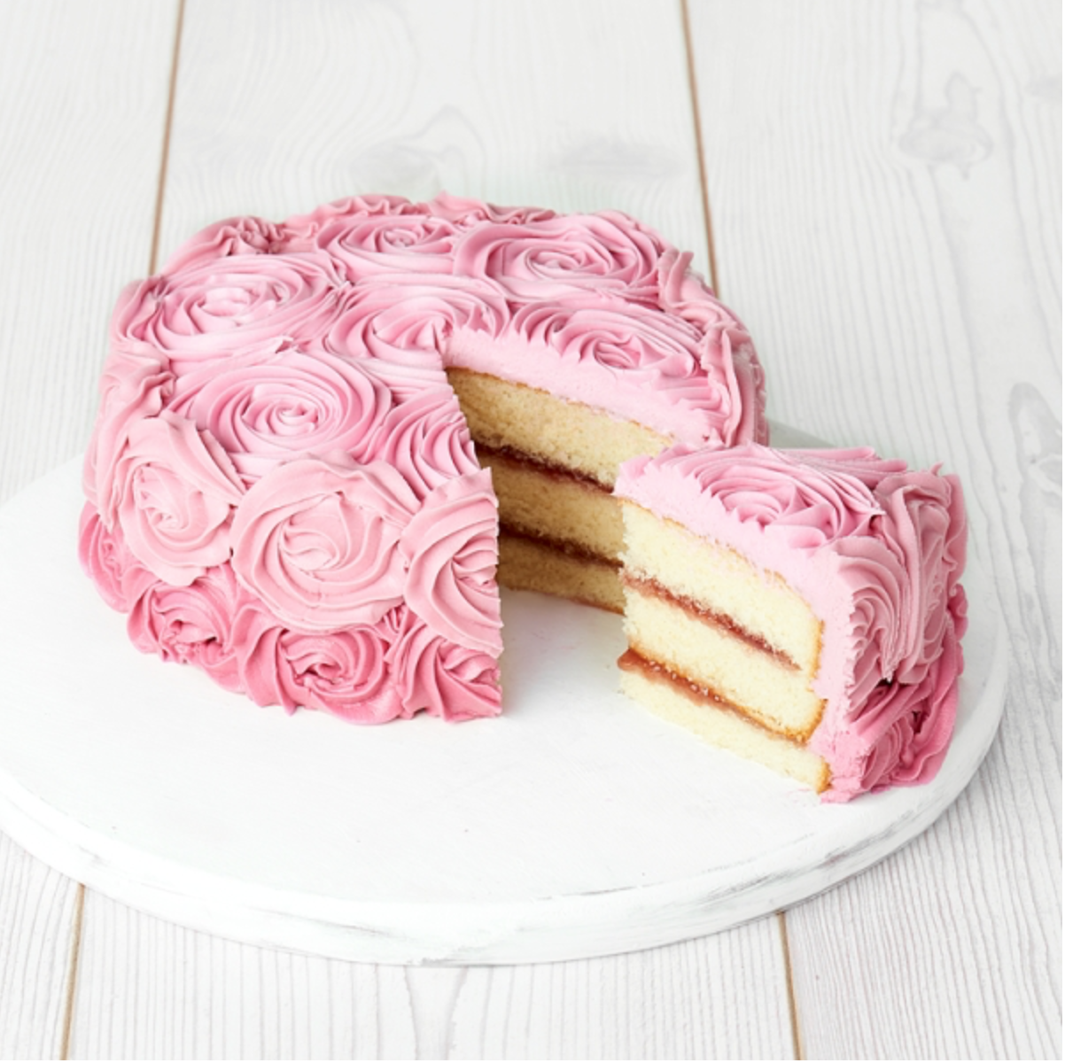 Sainsburys Rose Cake