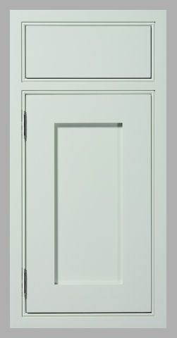 inset cabinet, beaded face frame, recessed flat panel with no trim