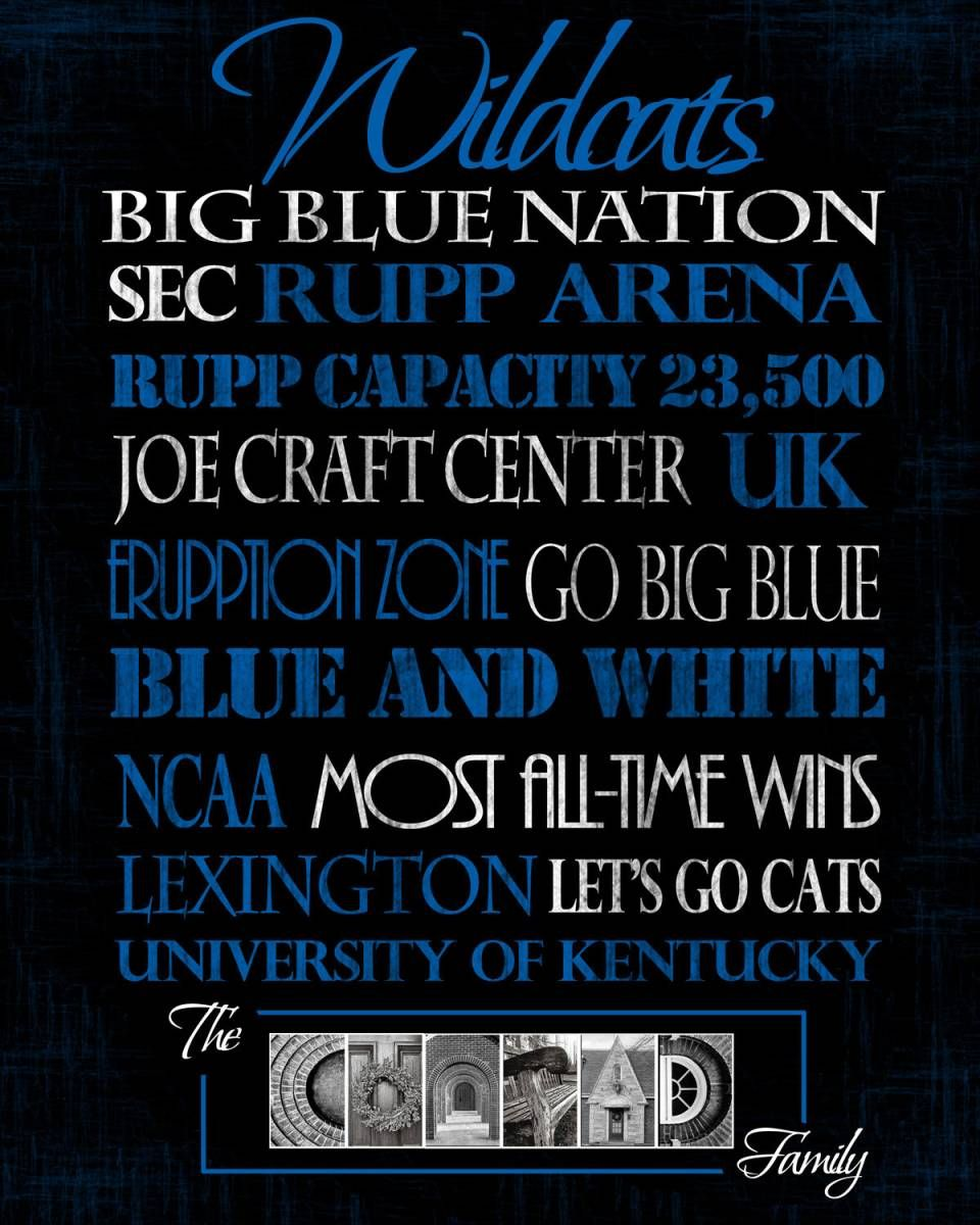 photograph relating to Printable Uk Basketball Schedule named School of Kentucky Wildcats print Higher education of