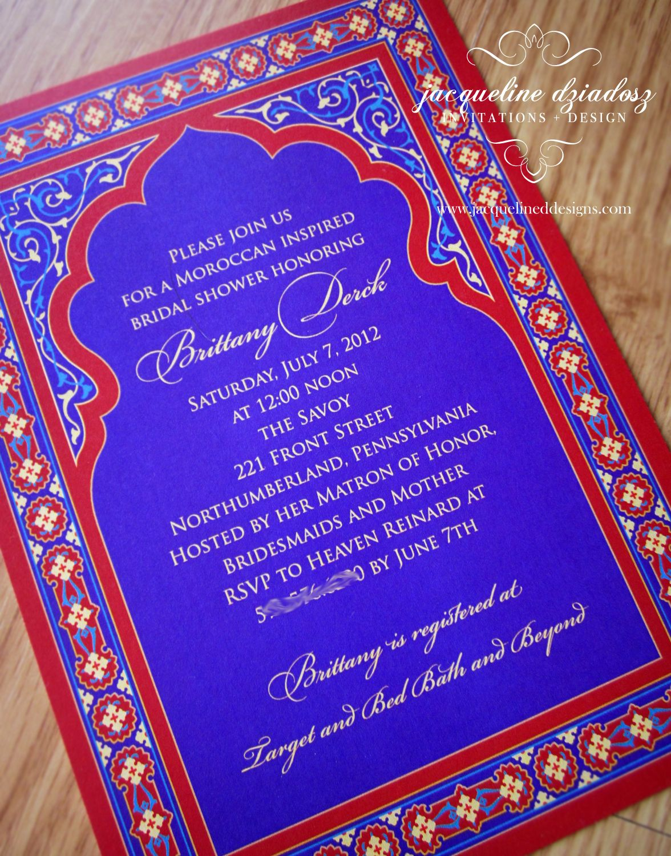 Jacqueline Dziadosz Invitations Design Bridal Shower Invitations