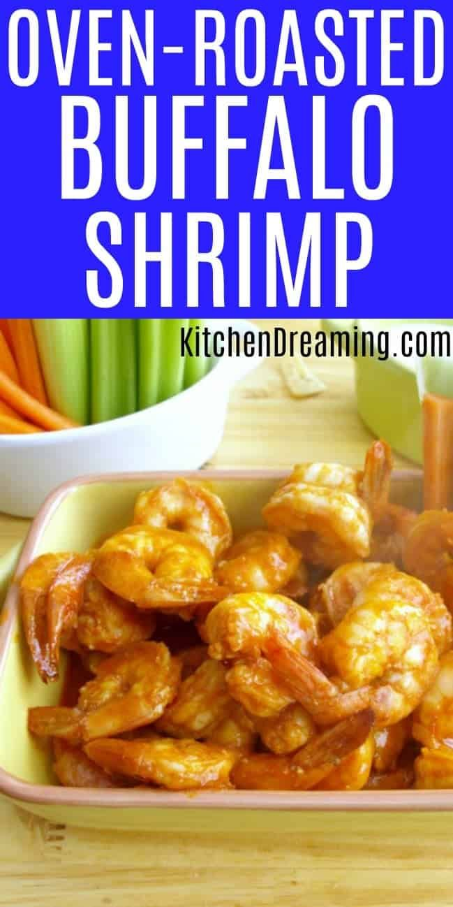 Oven Roasted Buffalo Shrimp #buffaloshrimp