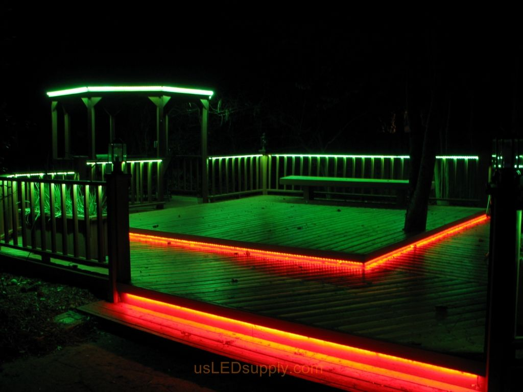 pool deck lighting ideas. LED Deck Lighting With RGB Flexible Strips Under Railings And Platforms. Pool Ideas