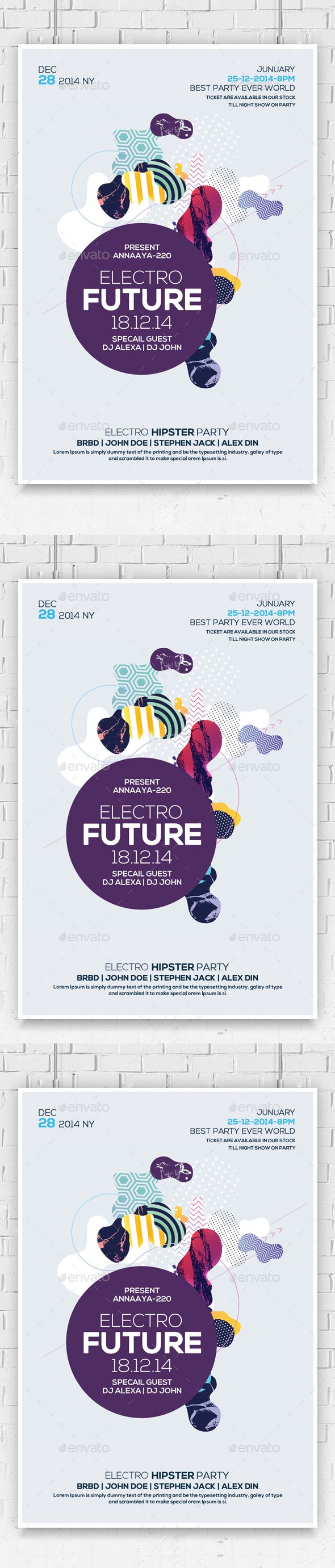 Electro Future Flyer Psd | Electro music, Future and Flyer template