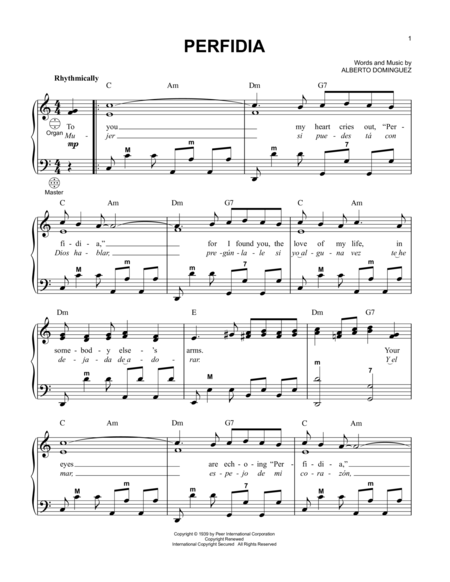 Perfidia | Nuty | Pinterest | Sheet music and Digital sheet music