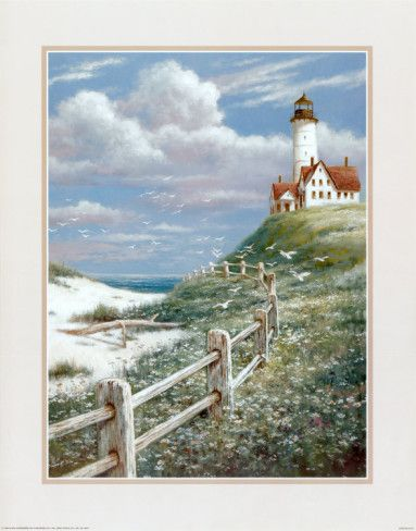Lighthouse with Fence by T. C. Chiu
