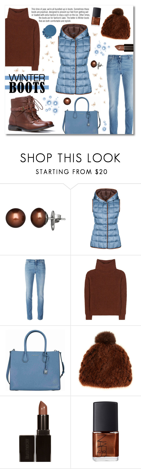 """So Cozy : Winter Boots"" by drinouchou ❤ liked on Polyvore featuring Honora, FAY, Givenchy, Loro Piana, Michael Kors, Pologeorgis, Laura Mercier, NARS Cosmetics and winterboots"