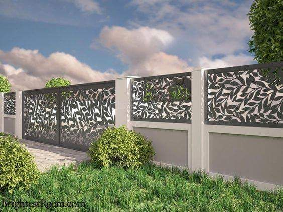 compound wall gate designs using cnc cutting | home compound wall ...