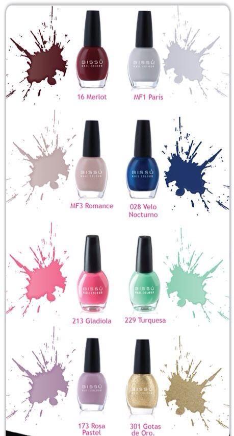 Esmaltes BISSU | nails | Pinterest | Esmalte, Maquillaje y Diseños ...