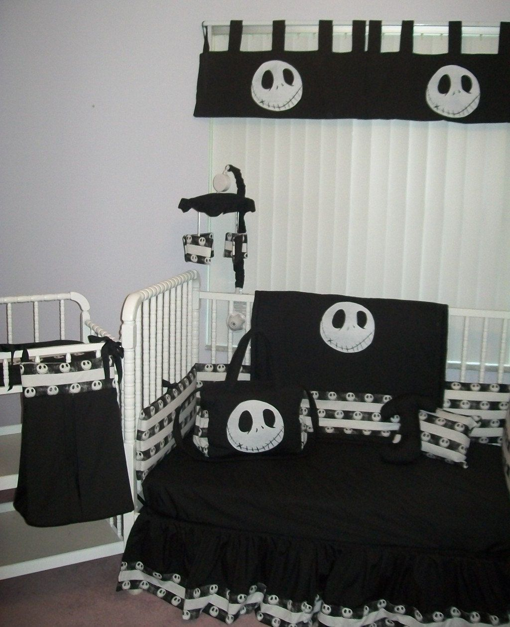 Jack skellington bathroom set - New Nightmare Before Christmas Jack Baby Crib Bedding Set Custom Made To Order 275 00