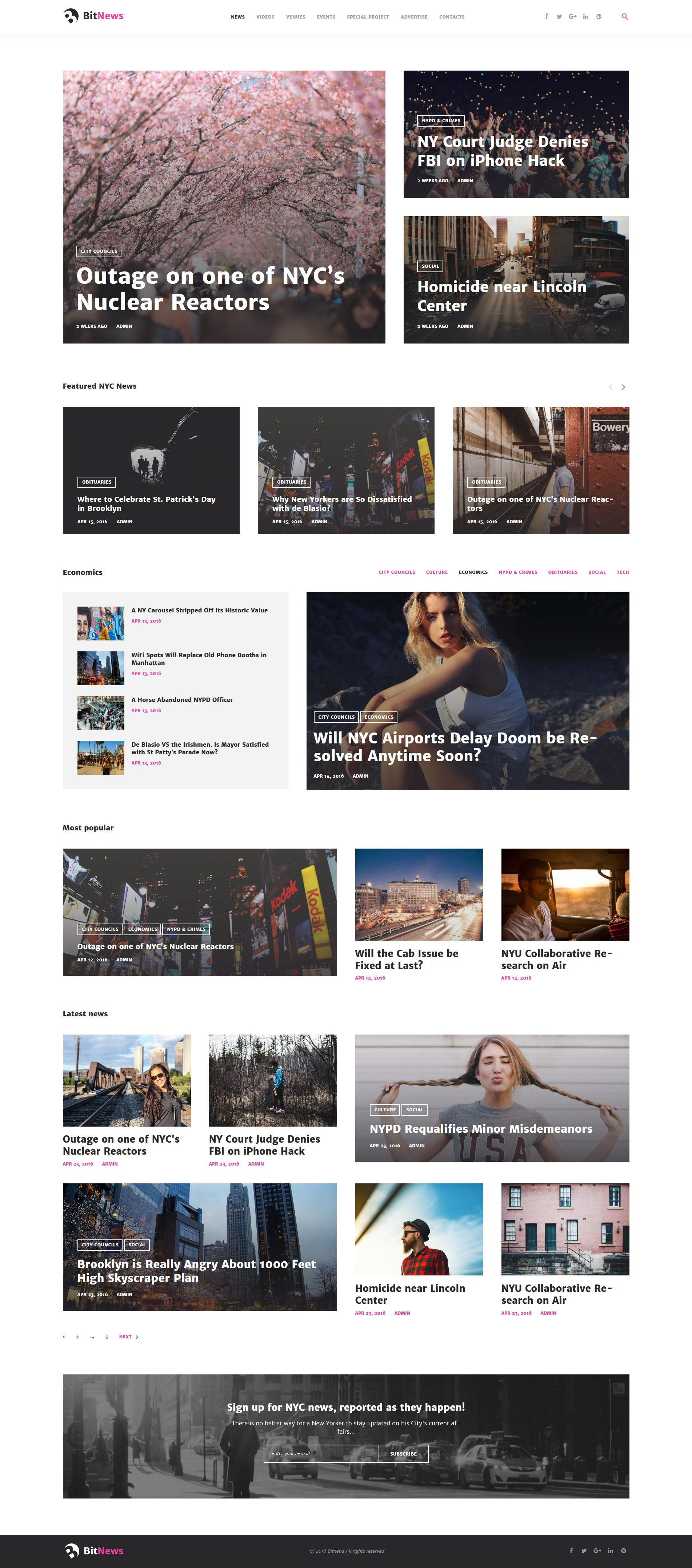 City Portal Magazine WordPress Theme Http Www Templatemonster