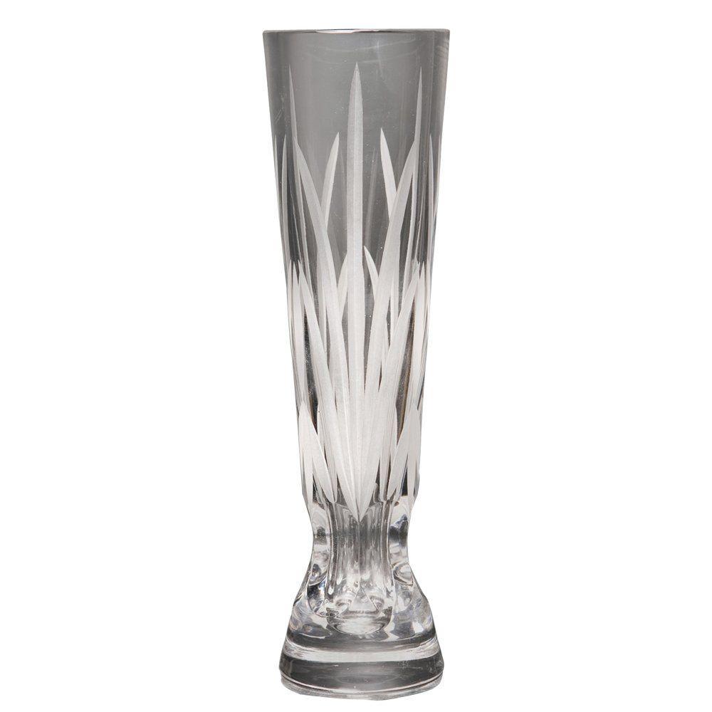 Decorative 6 Inch Tall Crystal Glass Bud Vase Flower Vase ...