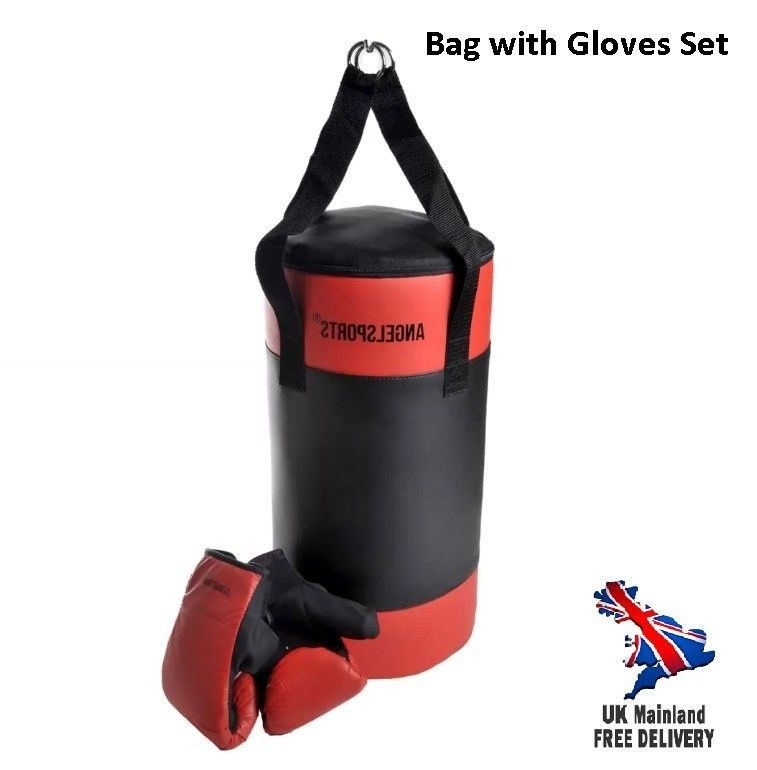Punching Bag Kids Set With Gloves Children Home Gym Training Sports Mma Rocky Uk Mma Training Gym Training Kids Bags
