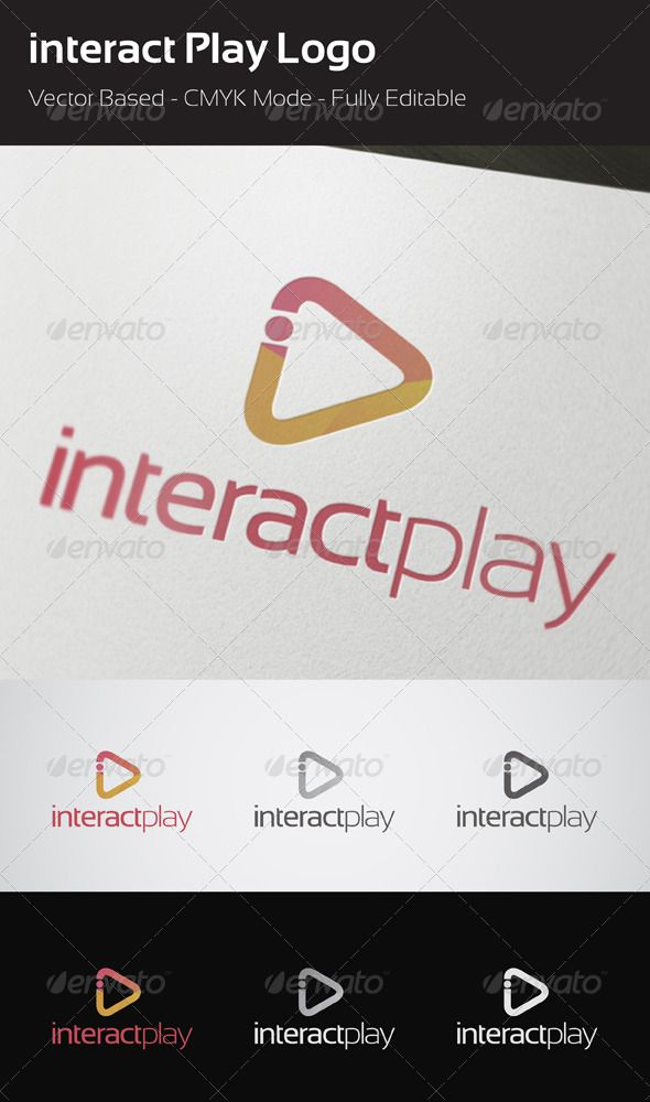 interact Play Logo #GraphicRiver interact Play logo template  This