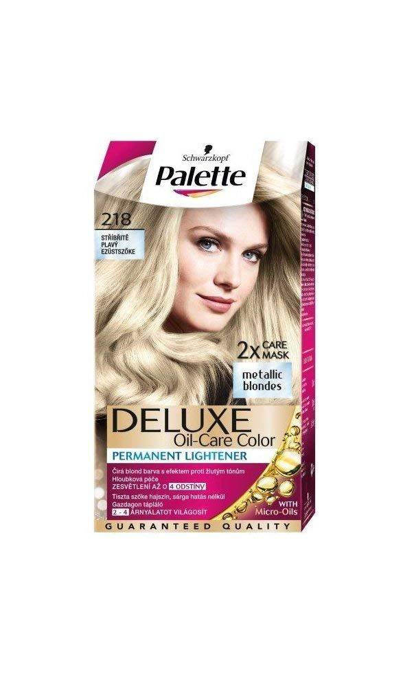Palette Deluxe 218 Silver Blonde Permanent Hair Color ...