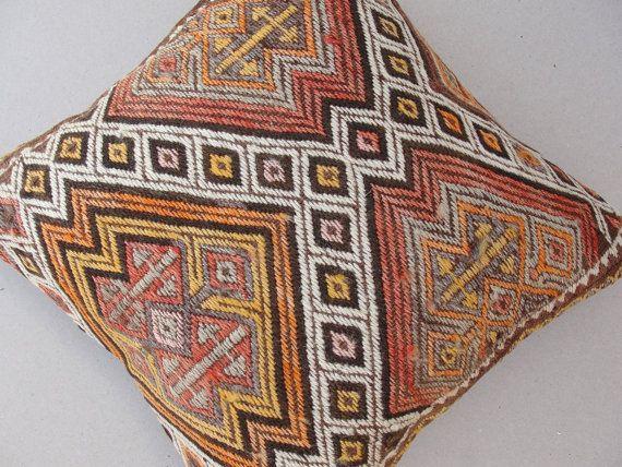 VINTAGE Decorative KILIM PILLOW Cover Kilim Pillow by misterpillow