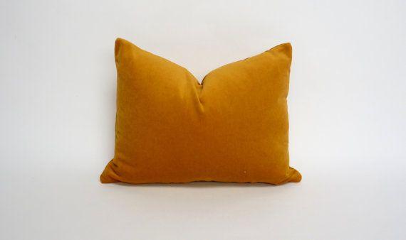 Mustard Velvet Pillow Cover Dark Yellow Velvet Pillow Rectangle Velvet Pillow Mustard Velvet Cushion Velvet Pillows Pillows Yellow Pillow Cases