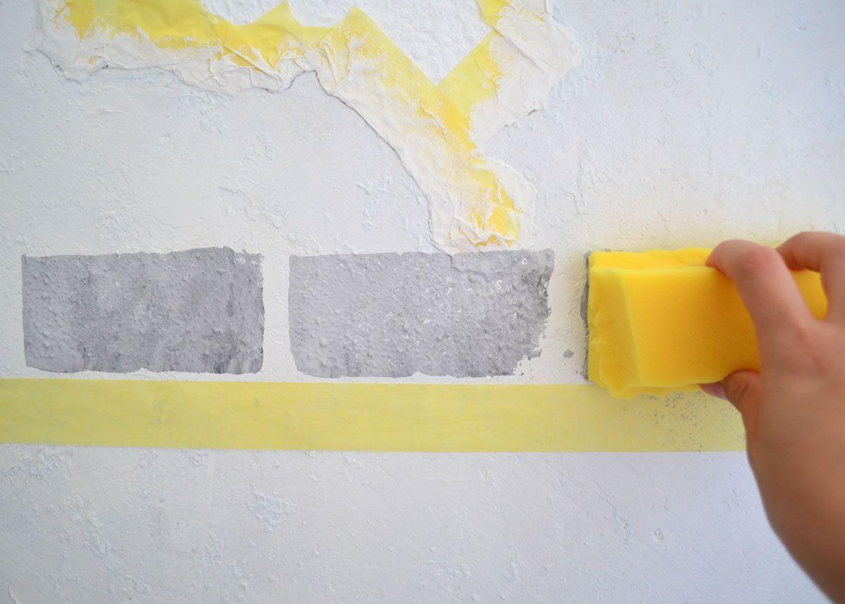 Pintar efecto ladrillo texturas en pintura en 2019 - Efectos pintura paredes ...