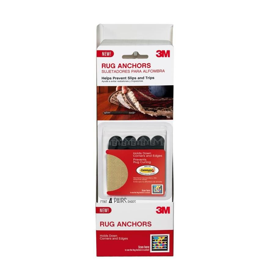 3m Rug Gripper Tape 4 Pack 0 5 In X 0 25 Ft White Double Sided