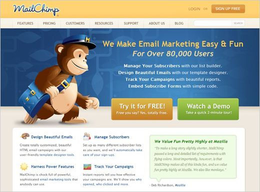 Homepage Designer the design seems a outdated but and that monkey is