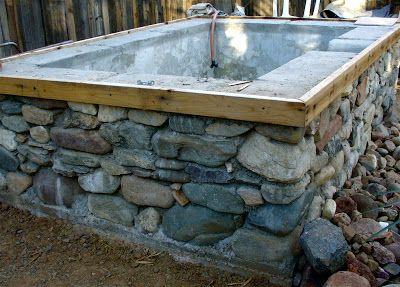 Alt Build Blog Concrete And Stone Hot Spring Pools Diy Hottub Homemade