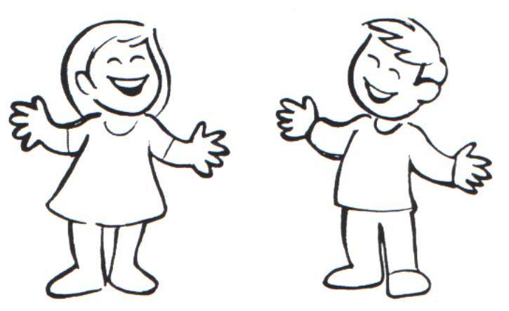 Resultado de imagen para silueta de niño para colorear | Niño in ...