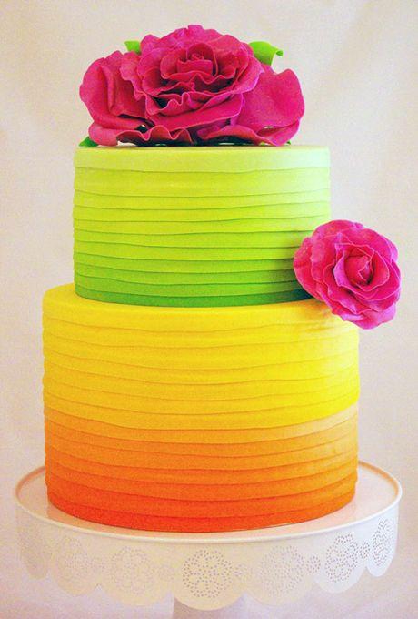 White Wedding Cake with Blue Filigree Wedding cake Neon and