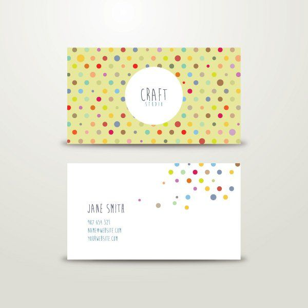 Craft business card vector graphic business card identity craft business card vector graphic business card identity crafting colorful playful circles friedricerecipe Images