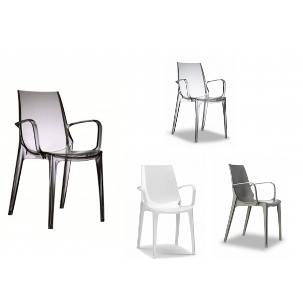 Sedie per soggiorno in policarbonato modello Vanity. Sedie ...
