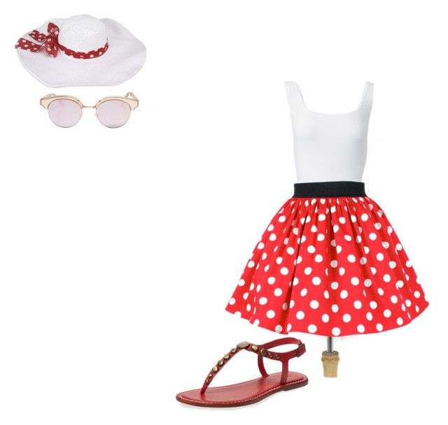 """""""summer in the 50s"""" by carly-bachert on Polyvore featuring Bernardo, Alaïa and Le Specs"""