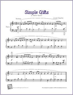 Simple Gifts Piano Sheet Music Online Piano Lessons Sheet Music
