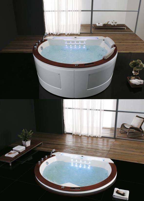 Designer Whirlpool Whirlwanne Badewanne mit Heizung 2609 ...
